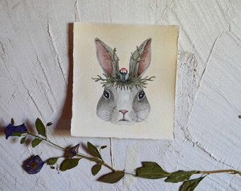 Bunny Spirit  - Original Watercolor