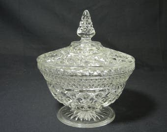 Wexford Pattern Covered Candy Dish by Anchor Hocking