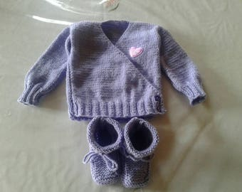 Bra wrap-baby 6 months with booties