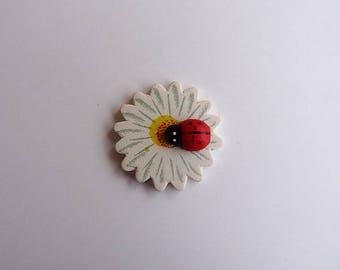 Ladybug on Daisy stick x 10