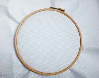 Circle wooden 15 cm - embroidery hoop with screw brass 15 cm wooden embroidery