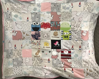 Memory Cuddly Blanket / Quilt with Baby's Clothes