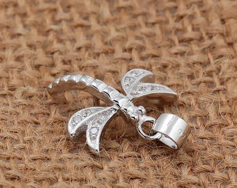 Sterling Silver Dragonfly Semi Set Pendant | Semi Set Pendant For Pearl