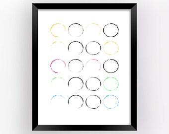 Art Prints Abstract, Wall Art Abstract, Abstract Painting, Digital Prints Download, Home Decor Art, Wall Art, Geometric Decor   M0018