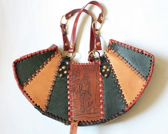 "Beautiful bag patchwork leather. ""Alikant"""