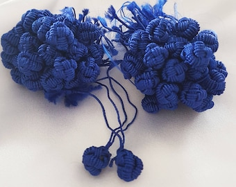 Buttons Aakads Moroccan Royal Blue braided in vegetable silk thread