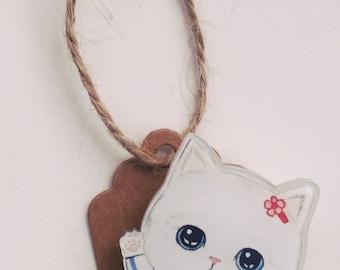 Pets badge kraft gift tags / secret santa stocking fillers, christmas tree surprises, cat, kitten, beagle, bichon, labrador, Schnouzer,
