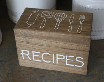 Recipe Box/ Recipes Box/ Recipe Holder