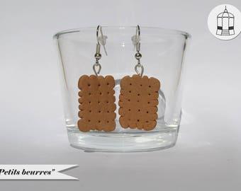Boucles d'oreilles - Biscuits petits beurres