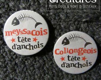 38mm Meyssacois or Collongeois anchovy head badge