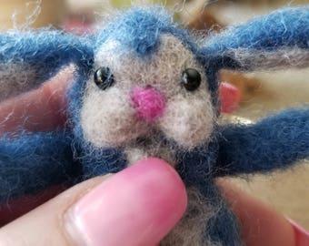 Felting Blue Bunny