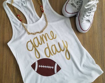 Game day racer back tank