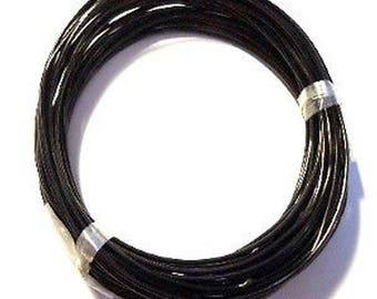 10 meters 1mm Aluminum Wire - Black - C0190