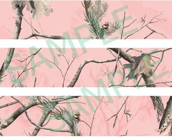 Pink Real Tree Camo Cake topper strips