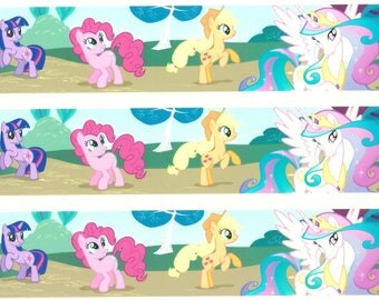 My Little Pony Cake topper strips