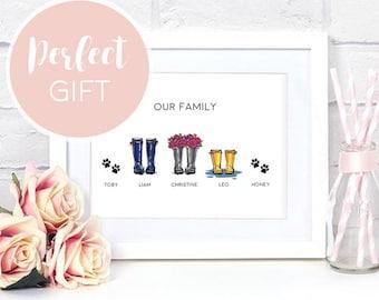 Wellington Boot Print | Welly Boot Printable | New Home Prints | Wall Art | Home Decor | Wall Decor | Family Printable
