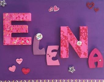 Original frame for little girl's room decor