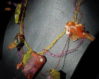 """Happy"" berlingot Ohlesfees necklace"
