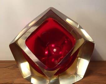 Midcentury Sommerso Murano glassware