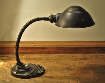 Gooseneck desk lamp by Erpe - industrial design