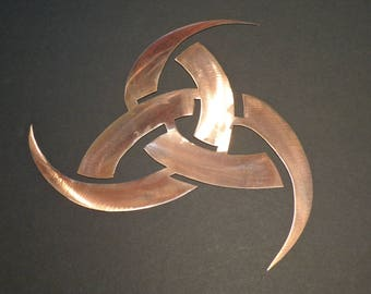 Triple Horn of Odin Metal Wall Art