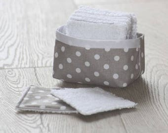 Kit sewing wipes cleansing eco - taupe dots