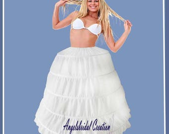 Petticoat, crinoline for wedding, bridal, party and ritual (5 hoops)