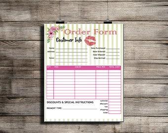 LipSense Order Form - LipSense Invoicing - LipSense Ordering - SeneGence Card - LipSense Business - LipSense Orders, Lip; Floral!