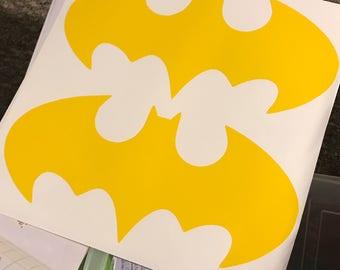 "Batman 12"" wide by 6"" high decal, Batman decal, batman Vinyl Decal, Custom Vinyl, batman sticker, batman decal, batman vinyl"