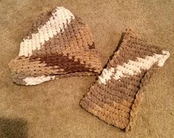 Crochet hat and headband