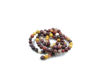 20 LBP00483 4mm natural Mookaite Jasper beads