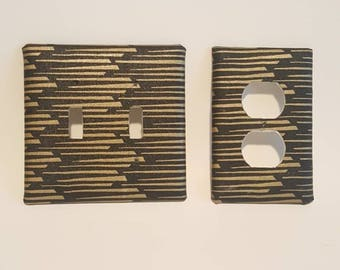 Wall plate (Black/gold dots)