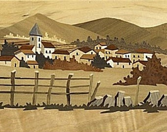 marquetry landscape