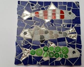 sardines mosaic tile