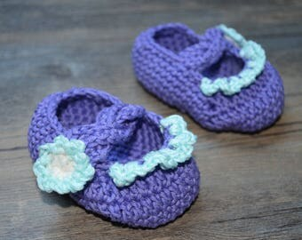 Purple and blue baby girl sandals