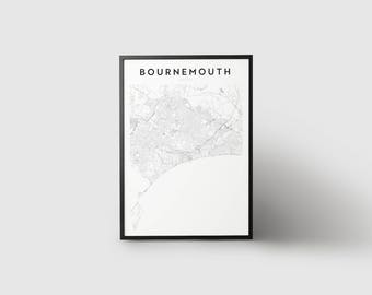 Bournemouth Map Print