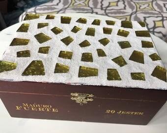 Distressed cigar box jewelry box