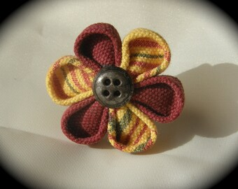 Creole madras kanzashi flower ring