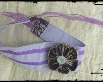 "Hair band tie flower kanzashi ""romantic"""