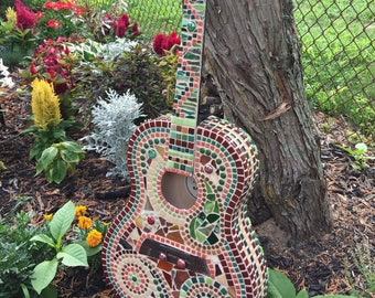 Mosaic guitar multicolored- free shipping