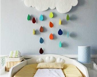 Cloud and raindrops, XL