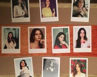 Lana del Rey Polaroids Set of 10 mini vintage style