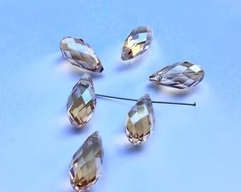SWAROVSKI Crystal 20 x 10 mm Pearl drops PENDANTS CHAMPAGNES (N87)