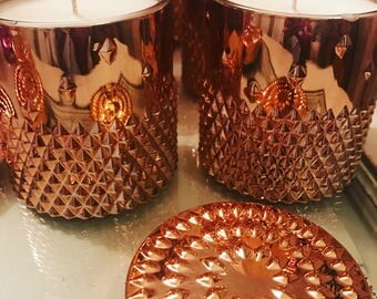 Rose gold rockstud container candle