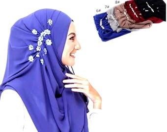 Hijab Chiffon scarf party fancy long head scarf