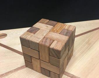 CONVOLUTION PUZZLE - Wooden Puzzle - Cube Puzzle