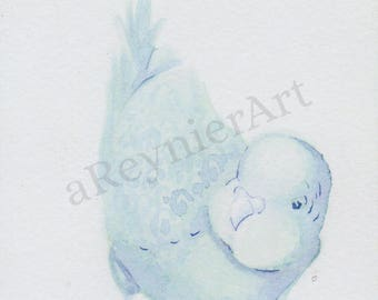 print, chubby little bird series (2/2) 10X15cm