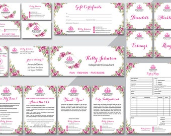 Paparazzi Marketing Kit, Custom Paparazzi Accessories Marketing Bundle, Back Office Logo, Paparazzi Business Card, Paparazzi Thank You PZ04