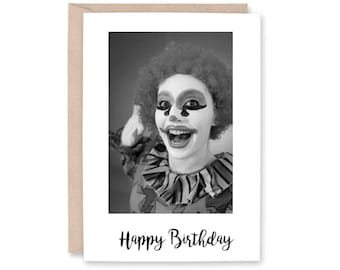 Funny Birthday Card - Clown disturbing