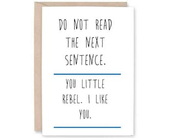 Funny Friendship Card -bff card, rebel card, friend card, friend humour card, hilarious card, funny rebel card, friends for life